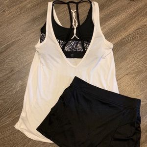 Champion skort and tank top with built in bra